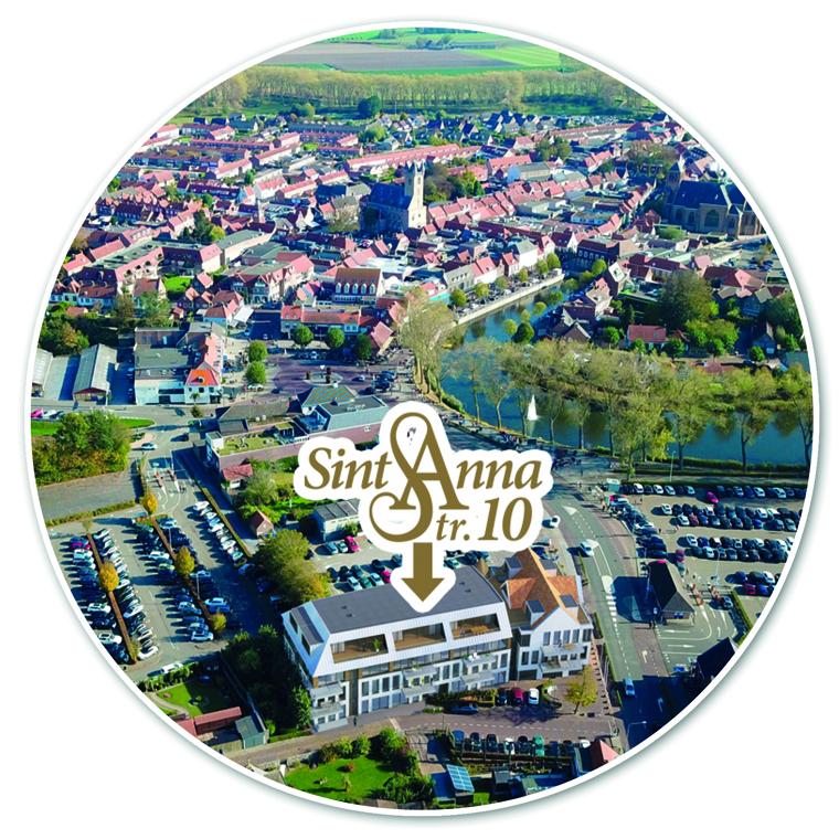 Locatie van nieuwbouw appartementen in Sluis